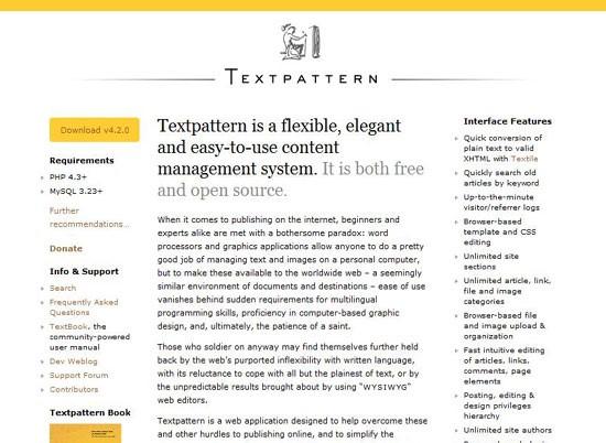Textpattern CMS